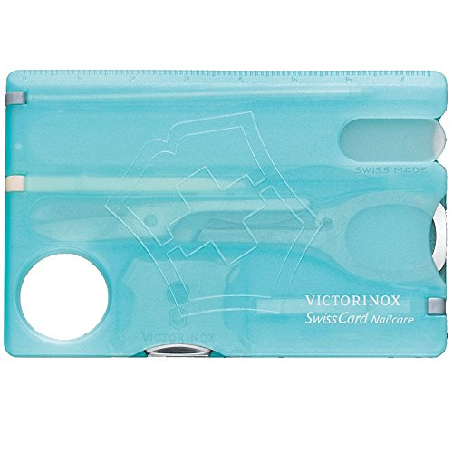 Victorinox SwissCard Nail Care, Translucent Ice Blue