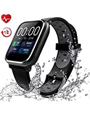 "Fitness Tracker, Activity Tracker con schermo a colori da 1,3""Smart Watch impermeabile IP68 con cardiofrequenzimetro Sleep Monitor Contapassi per donne Uomini Bambini-HSBY1"