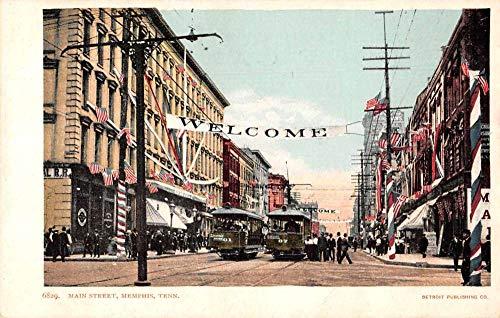 Memphis Tennessee Main Street Trolley's Patriotic Postcard JI657453