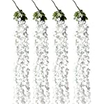 Aisamco-Artificial-Wisteria-Vine-in-White-Silk-Wisteria-Garland-Hanging-Silk-Flowers-String-Rattan-in-55-Long-with-3-String-Flowers-for-Outdoor-Wedding-Arch-Floral