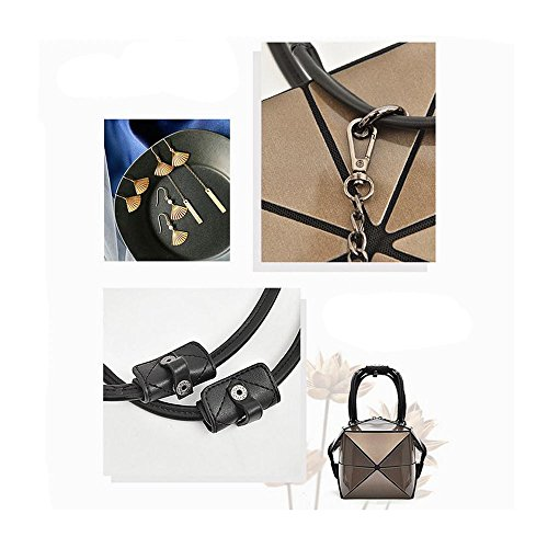Fashion Shoulder Style9 Clutch Chain Satchel Bag Geometric Handbags Metal Rhombus LZHA Purse 6dxwOBq6