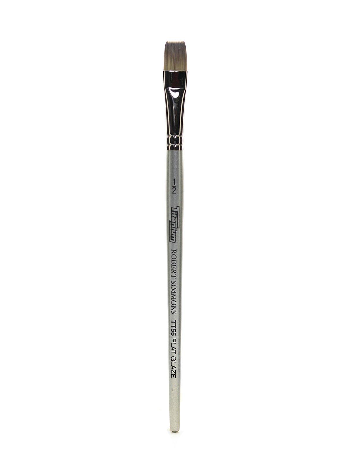 Robert Simmons Titanium Brushes Short Handle Single Stock 1/2 in. flat glaze TT55 [PACK OF 3 ]