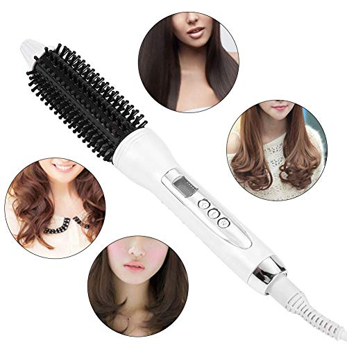 Hair Curler & Straightener, Ceramic Anion Hair Curling Roller & Straighten Flat Brush Comb Curling Styling Tool(26MM) -