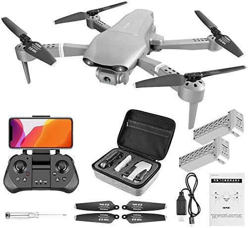 4DRC F3 GPS Drone 4K with FPV Camera Live Video,Foldable Drone for Adults,RC Quadcopter for Beginners,with Auto Return Home, Follow Me,Dual Cameras,Waypoints, Long Control Range,1 Extra Battery+Pack 513JM3u5OSL