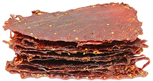 People's Choice Beef Jerky - Classic - Hot & Spicy - Big Slab - Whole Muscle Premium Cuts - High Protein Meat Snack - 15-ct - 1.5 LB Bag