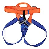 QOJA outdoor rock climbing safety belt strap harness bust waist
