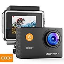 APEMAN Action Camera 12MP Full HD 1080P Waterproof Camera Diving 30M Underwater Cam 170 Ultra Wide-Angle Lens Sports DV Camera with Accessoriesfor Cycling Swimming Skiing