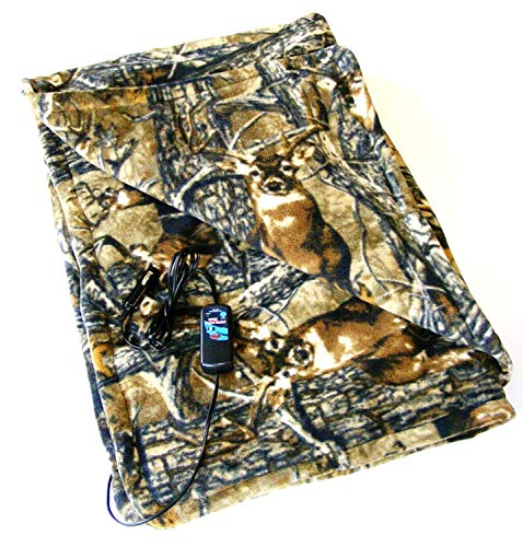 Car Cozy 2 - 12-Volt Heated Travel Blanket (Camo, 58 x 42) with Patented Safety Timer by Trillium Worldwide