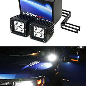 iJDMTOY Complete 40W High Power CREE LED Pod Light Kit w/Near Hood A-Pillar Mounting Brackets & Switch Wiring Relay For 2009-2014 Ford F-150 (Including Raptor)