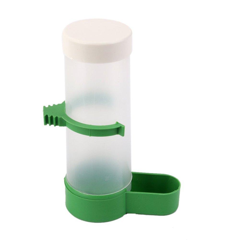 1xToruiwa Birds Water Bottle Water Food Feeder Dispenser Water Bowl for Birds Parrots African Grey Budgie Parakeet Cockatiel Cage Accessories
