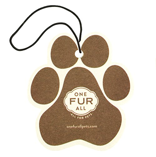 One Fur All Pet House Car Air Freshener, Pack of 4–Evergreen Forest- Non-Toxic Auto Air Freshener, Pet Odor Eliminating Air Freshener for Car, Ideal for Small Spaces, Dye Free Dog Car Air Freshener