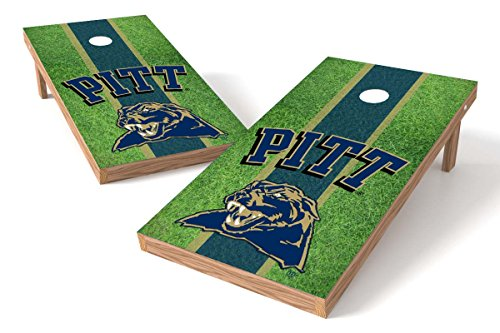 Wild Sports NCAA College Pittsburgh Panthers 2' x 4' Field Authentic Cornhole Game Set