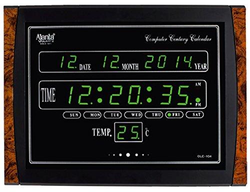 Ajanta Digital Clock OLC104 Green LED Amazonin Home Kitchen