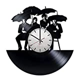 "Beatles Vinyl Record Wall Clock – Get unique bedroom home decor – Gift ideas for adults and youth ??"" Rock Music Band Unique Wall Art For Sale"