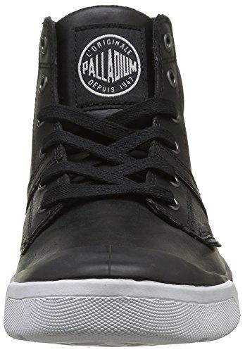 Palladium Palaru Hi Lea H, Baskets Hautes Homme Noir (115 Black/White)