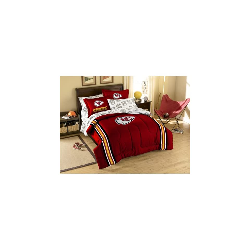 BSS   Kansas City Chiefs NFL Embroidered Comforter Twin/Full (64 x 86)