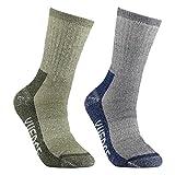 YUEDGE Men's Merino Wool Crew Socks For Hiking Backpacking Trekking Climbing