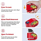 Tchipie Disc Brake Lock Motorcycle Alarm with 110db