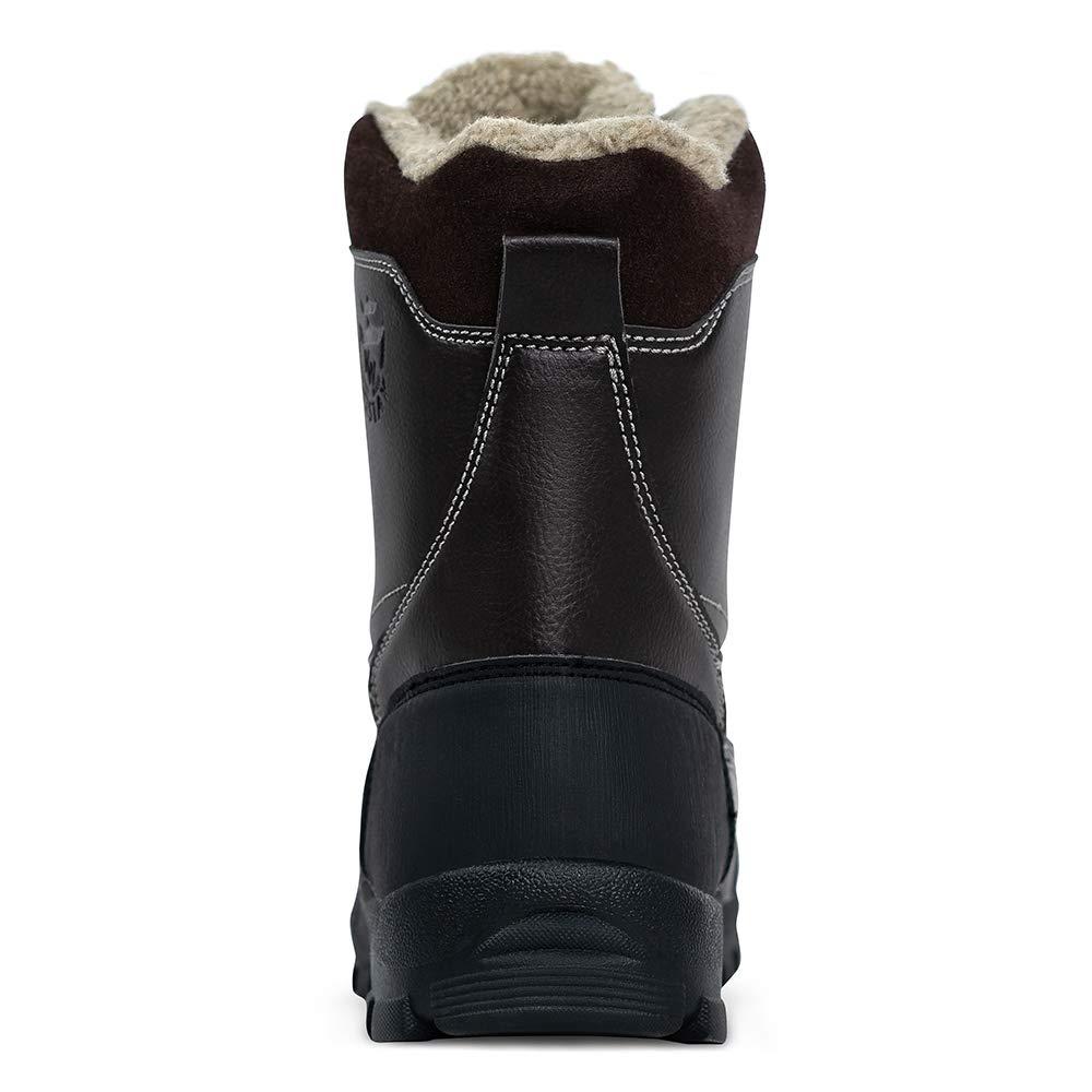Mens Waterproof Snow Boots,Hiking Bean Hiker Walking Ankle Boots