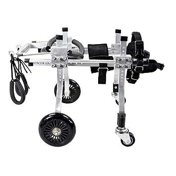 Perro Ajustable Silla De Ruedas, Cuatro Ruedas Scooters, Aleacion De Aluminio Ultra Ligero Discapacitados Y Paralizado El,Los Ejercicios De Rehabilitacion ...