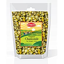 Sunbest Organic Chamomile Flowers, Egyptian, Whole / Loose, Caffeine Free, Herbal Leaf Tea - Relaxing Tea (3.5 Oz)