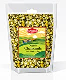 Sunbest Organic Chamomile Flowers, Egyptian, Whole / Loose, Caffeine Free, Herbal Leaf Tea - Relaxing Tea (3.5 Oz)