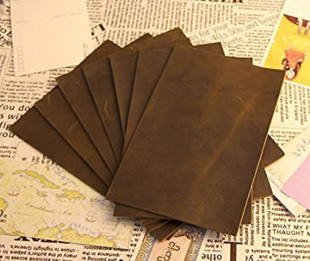 PASSION juneTree dark brown thick Scrap genuine leather shapes about 2 mm square piece cowhide YT08 8.7 12.7 inch
