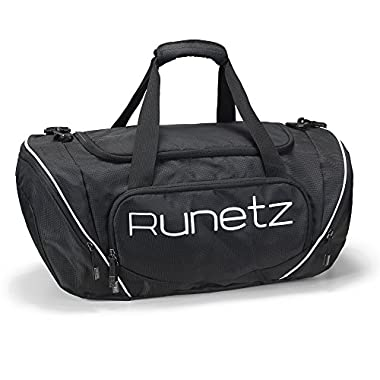 Runetz - BLACK Gym Bag Sport Shoulder Bag for Men & Women Duffel 20-inch Large - Black