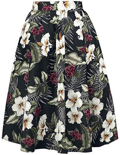 Hasta Tahiti Hell Bunny Skirt La Falda Negro Rodilla wzwvIq