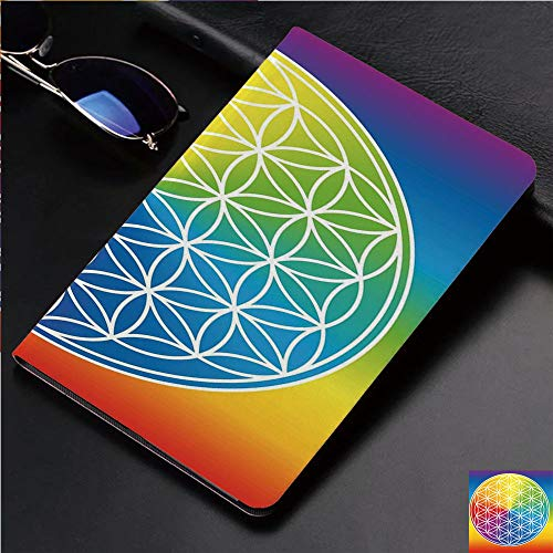 (Case for iPad 2 iPad 3 iPad 4 TPU Leather Rotating Smart Stand Tablet Case for iPad 2/3/4,Child Youth Radiant Rainbow Toned Spiritual)