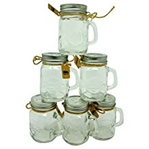 Smith's Mason Jars Mini Mason Jars shot Glasses Set of 6 (4oz / 120ml)