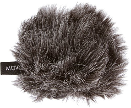 Movo WS-G1 Furry Outdoor Microphone Windscreen Muff for Small Compact Microphones up to 2.5