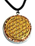 Flower Of Life Orgone Pendant Generator Energy Accumulator EMF protection LARGE 2 25 inch