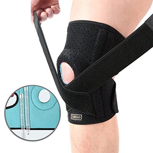 HUEGLO 무릎 보호대 탄성 받침 조절 통기성