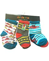 Stride Rite Boys' Toy Car's Crew Sock 6-Pack 6-12 Months