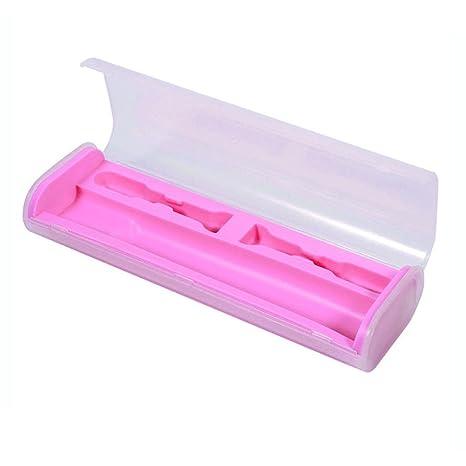 MYQyiyi portátil caja de viaje de Cepillo de dientes eléctrico,ligero y conveniente (Rosa