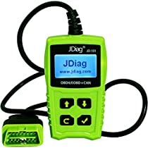 JDiag JD101 Auto Classic Enhanced Universal OBD II Scanner Car Engine Fault Code Reader Vehicle CAN EOBD Diagnostic ScanTool