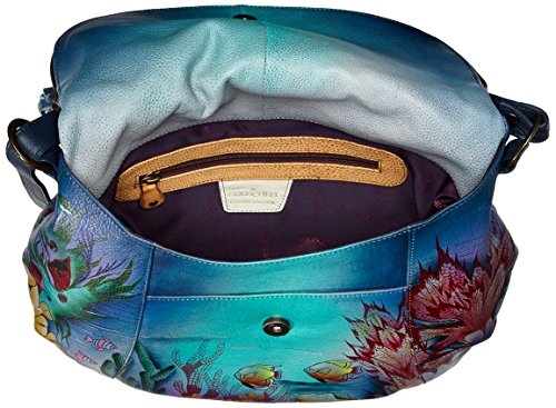 Anuschka Over LL Convertible Flap World Large Dolphin rHf0rS