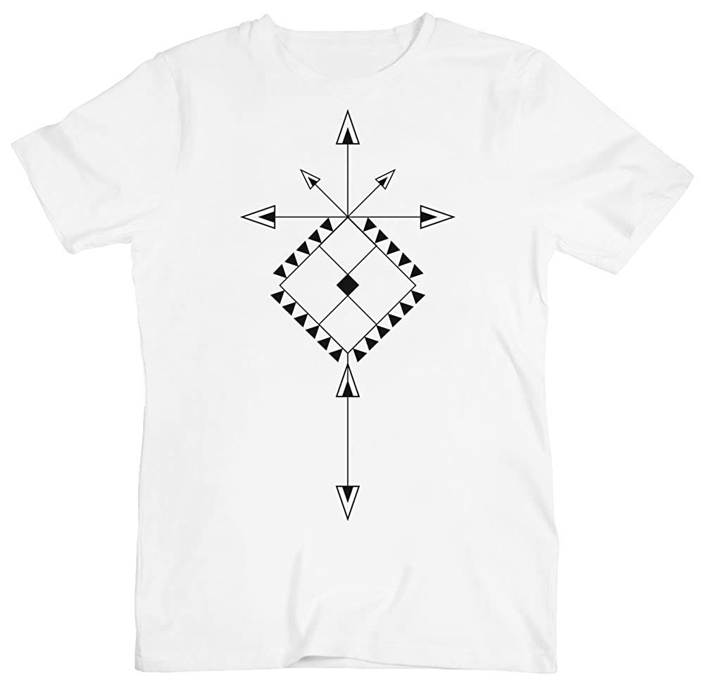 Minimal Ornament with Arrows Mens T-Shirt