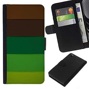 Planetar® Modelo colorido cuero carpeta tirón caso cubierta piel Holster Funda protección Para HTC DESIRE 816 ( Brown Pastel Palette Tones )
