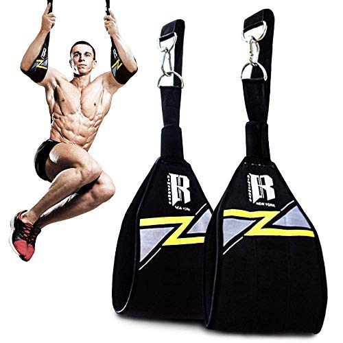 RIMSports Ab Straps for Pull Up Bar - Premium Pull Up Straps & Hanging Ab Straps for Core Workouts - Ideal Hanging Straps & Ab Hancer for Gym - Perfect Abs Workout Equipment