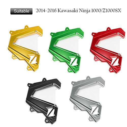 FATExpress Motorcycle Billet CNC Aluminum Front Chain Guard Sprocket Engine Cover for 2014-2015 Kawasaki Ninja Z 1000 Z1000 Z1000SX 14-15 - Front Cover Sprocket Billet