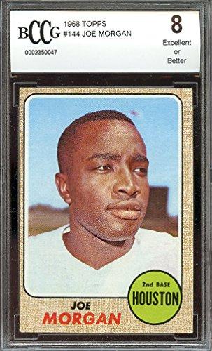 1968 topps #144 JOE MORGAN houston astros BGS BCCG 8 Graded Card (Joe Morgan Astros)