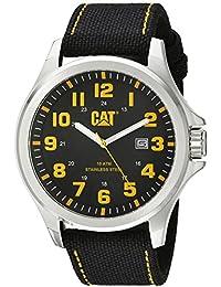 Caterpillar PU.141.67.117 Reloj Análogo para Hombre, Redondo, color Negro
