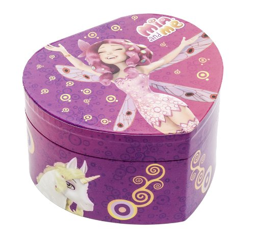 Joy Toy 118106 Mia Me Heart Shape Jewellery with Music Box and Rotating Butterfly in Gift Wrap