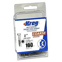 Kreg SPS-C1-100 1-Inch Pocket Screws No.7 Coarse, Pan-Head, 100 Count