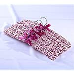 5pk Fabric Padded Hangers Clothes Hanger Home Organization, Leopard Print Design