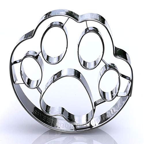 Dog Paw Cookie Cutter - Stainless Steel -
