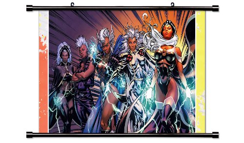 X-Men Storm Comic Fabric Wall Scroll Poster (32x18) Inches