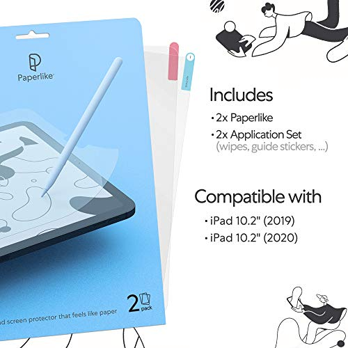 Paperlike with Nanodots for iPad Pro 2018 and 2020 12.9 Inch 3rd Generation Screen Protector Matte Paper Feel Write Draw Apple Pencil Compatible (2 Pieces)